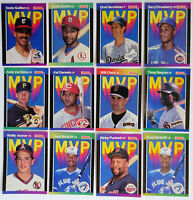 1989 MVP Baseball Cards Donruss Lot of 12 Dodgers Giants Padres Blue Jays Reds