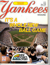 Yankees Magazine Opening Day Edition - May 4, 1989