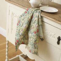 William Morris Golden Lily 100% Cotton Floral Tea Towel.