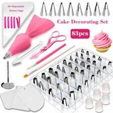 83Pcs Baking Supplies Kit DIY Cake Cupcake Decorating Icing Tips Set Tools