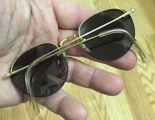 a4cebda0d4d Vintage 12K GF SC S C-USA Gold Tone Wire Half Rimless Eyeglasses Frame