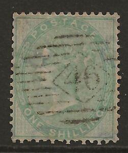 GB 1856 1/- green 'no corner letters' fine used SG#72 cat £350 perfect centre