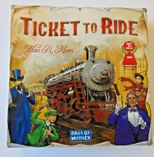 ALAN R. MOON'S, TICKET TO RIDE BOARD GAME BY DAYS OF WONDER - 100% COMPLETE