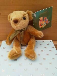 Harrods Tiny Honey Bear With Green Bow