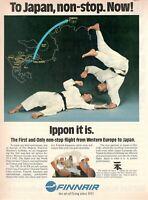 1983 Original Advertising' American Finnair Company Aerial Finland To Japan