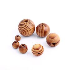 8-20mm 50pcs Pine Wood Beads Round Spacer Wooden Ball Fit DIY Bracelet Necklace