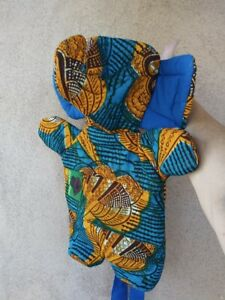NWOT Quilted Elephant Backpack Adjustable Tie Straps All Ages