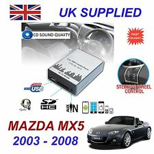 For MAZDA MX5 MP3 SD USB CD AUX Input Audio Digital CD Changer & charger Module