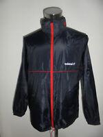 rare vintage 80s Adidas Regenjacke Nylon Jacke oldschool glanz 80er blau/rot M
