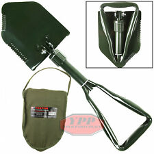 Tekton Folding Military Style Survival Camping Shovel & Storage Case/Pouch New