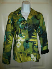 NWT NEW CHICOS JACKET TOP SIZE 0 FLORAL SPANDEX