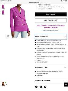 Lauren Ralph Lauren Dbl Breasted Blazer NWT $295