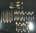 Reed & Barton Silver Plate Flatware Classic Dresden Rose 32pc SERVING PIECES