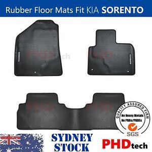 Premium Quality All Weather Rubber Floor Mats to fit KIA Sorento UM Jun2015-2021