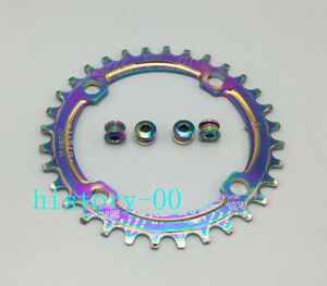 Narrow Wide Bike Round Chainring Chain Ring BCD 104mm 32 34 36 38T Screws Bolts
