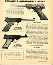 1972 Print Ad of Browning .22 Renaissance Challenger & Nomad Automatic Pistol