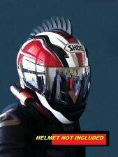 motorcycle helmet mohawk warhawk STICK ON dirt bike SAWBLADE PLUS FREE SHARK FIN