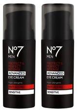 No7 MENS P & P Intense ADVANCED Eye Cream Sensitive By Boots 2 x 30ml