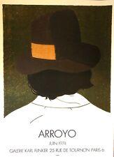 Arroyo Eduardo Affiche Lithographie Mourlot 1974 galerie Flinker abstract