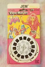 Jem and the Holograms Viewmaster Set of 3 Reels on Card 1986 Hasbro