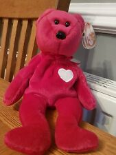 Valentina TY Beanie Baby Bear Rare - With Date Errors