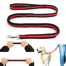 UK Pet Dog Leads Stretch Elastic Bungee Rope Carabiner Training Traffic Leash