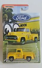 Matchbox 2019 Ford Trucks 1/6  '56 Ford F-100 Pickup  Yellow  MOONEYES
