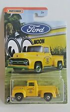 Matchbox 2019 Ford Trucks 1/6  '56 Ford F-100 Pickup  Yellow  MOONEYES