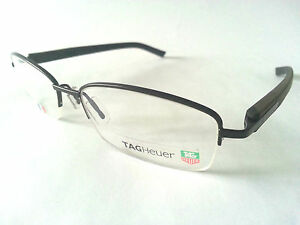 TAG HEUER TRENDS GLASSES / FRAMES / BLACK RIMS BROWN ARMS 8210 003 UNDER £100 !