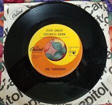 Vintage 45 RPM The Yardbirds Jeff's Boogie & Over Under Sideways Down Canada '66