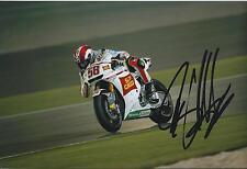 Marco SIMONCELLI Honda San CARLO SIGNED Autograph RARE 12x8 Photo AFTAL COA