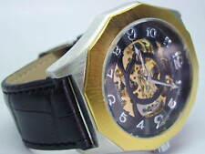 Montre de luxe homme mécanique automatique LOUIS VALENTIN bracelet cuir NEUVE