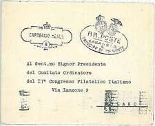 ITALIA REGNO - BUSTA con annullo CARTEGGIO REALE 1946