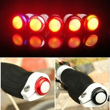 2X Bicycle Bike Cycle Handle Bar Grip Turn Signal End Plug Light Lamp CNC Button