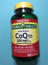 Spring Valley CoQ10 Rapid Release Softgels, 200 Mg, 150 Ct Exp. 04/23