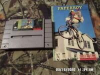 Paperboy 2 (Super Nintendo Entertainment System, 1991) SNES Game w/ Manual