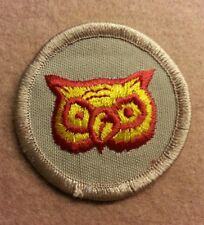 BSA  PATROL MEDALLION PATCH - OWL - 1989-2002  - PRE-OWNED   A00275