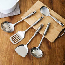 5pcs Stainless Steel Kitchen Cooking Tools Utensil Set Spatula Spoon Scoop AU