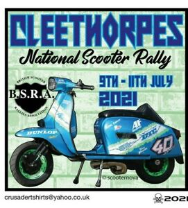 2021 CLEETHORPES SCOOTER RALLY RUN BSRA PATCH MODS SKINHEADS not PADDY SMITH