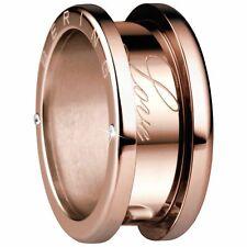 BERING Ring (Außenring) f. Damen m. Zirkonia ionenplattiert Edelstahl rosévergol