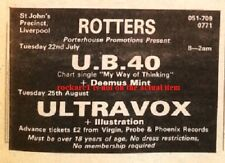 More details for ub40 uk timeline advert - liverpool rotters club 22-july-1980 3x3 inches
