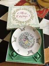 Royal Doulton Merry Christmas 1977 Plate Skaters In Box-1st Plate In Series