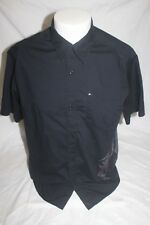 Quicksilver Men's Black Short Sleeve Button Front Shirt Size Small