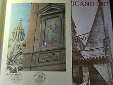 1987 Vaticano Libro Album Ufficiale Yearbook Vatican + Folder Anno Mariano