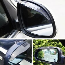 Fit For BMW BENZ AUDI Car Rearview Mirrors Sunvisor Shade Rain Shield Black 2pcs