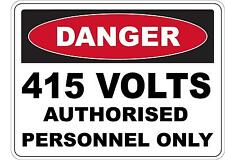 Danger 415 Volts Authorised 5 Sticker Sign Decal Set Public Safety WH&S OHS WHS