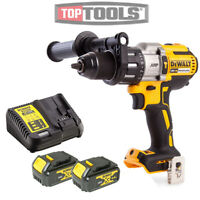 DeWalt DCD996N 18v XR Brushless Hammer Combi Drill + 2 x 4Ah Batteries & Charger