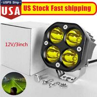 """12V 3"""" Inch Spot Led Work Lights Bar for Car Fog Lamp 4x4 Off road Motorcycle US"""
