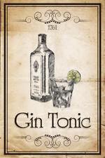 Gin Tonic 1761 Blechschild Schild Blech Metall Metal Tin Sign 20 x 30 cm
