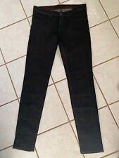 J BRAND NEW! Darkest Brown Coated Waxed Skinny Legging Jeans In Mocha Sz 28 NWOT